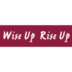Wise Up Rise Up Sticker