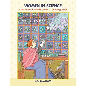 Women In Science Coloring Book