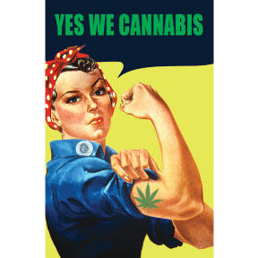 Yes We Cannabis Rosie Magnet GONE