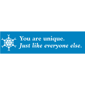 You-Are-Unique-Bumper-Sticker