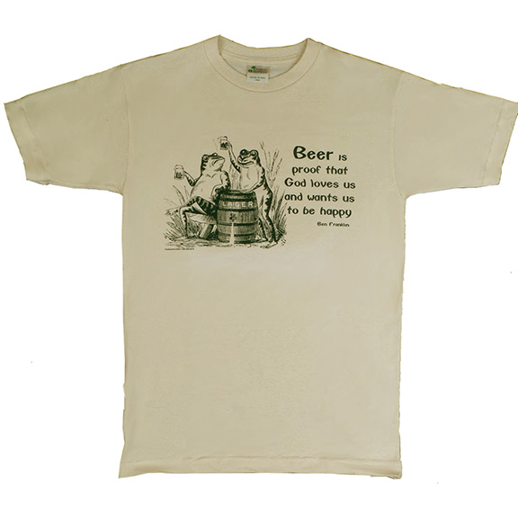 Beer Ben Franklin Organic T-Shirt