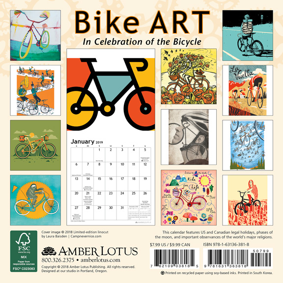 Bike Art Mini Calendar