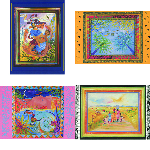 Assortment Jane Evershed 4 Note Card Set