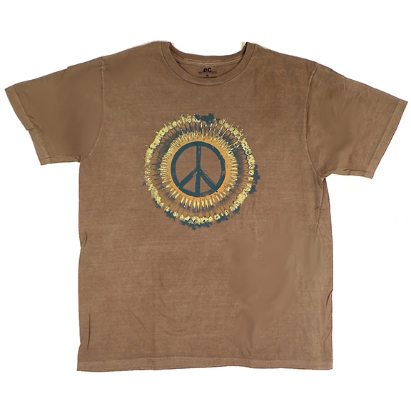 Peace Sign Organic Clay-Dyed TShirt