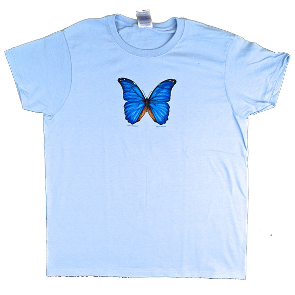Blue Butterfly Womens TShirt