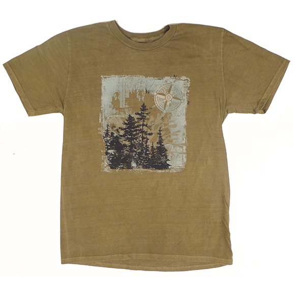 Compass Forest Clay-Dyed TShirt