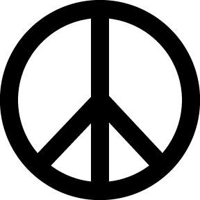wearing peace love gray tee green burmudas peace necklace